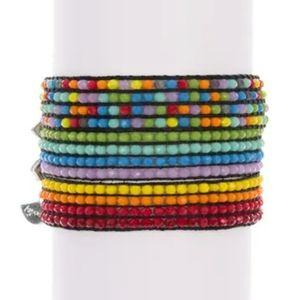 AYOUNIK Crystal Beaded Adjust. Bracelet Set